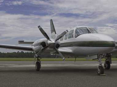 The Navajo is a popular piston driven small air charter aircraft, similar to the Cessna 414 or 421.